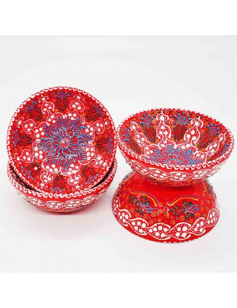 """Lace Red Bowl 5"""""""