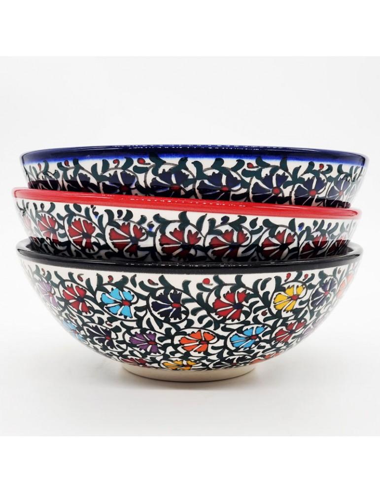 """Iznik Carnation Bowls 8"""""""