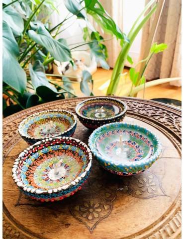 Ceramic Candles Set Of 4.