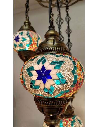 """Mosaic Hanging Lamps 5"""""""