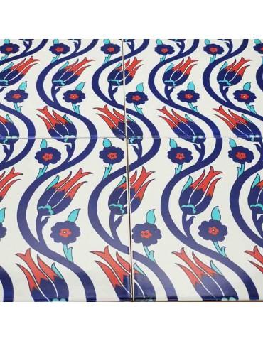 Iznik Ceramic Tiles- Set Of 4