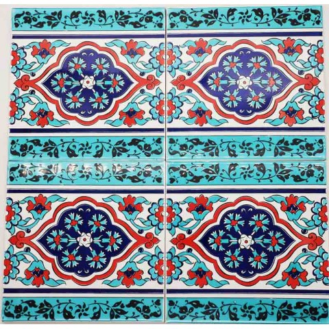 Iznik Ceramic Tiles- Set Of 4