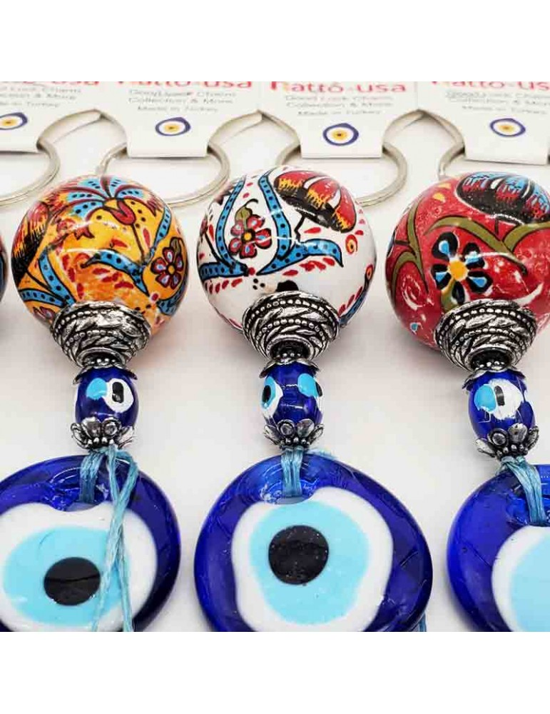 Lucky Eye Ceramic Keychain EECK