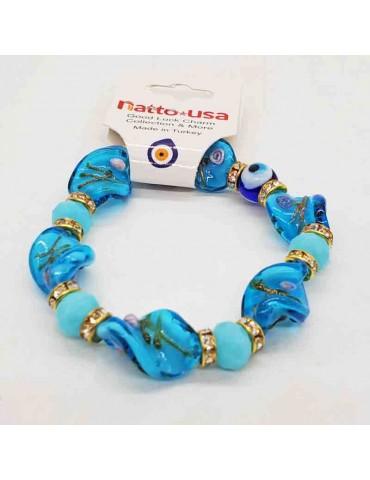 Hand-Blown Glass Lucky Eye Bracelets